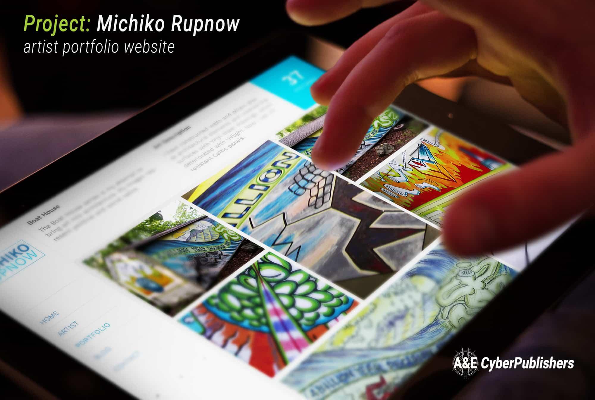 Artist Michiko Rupnow