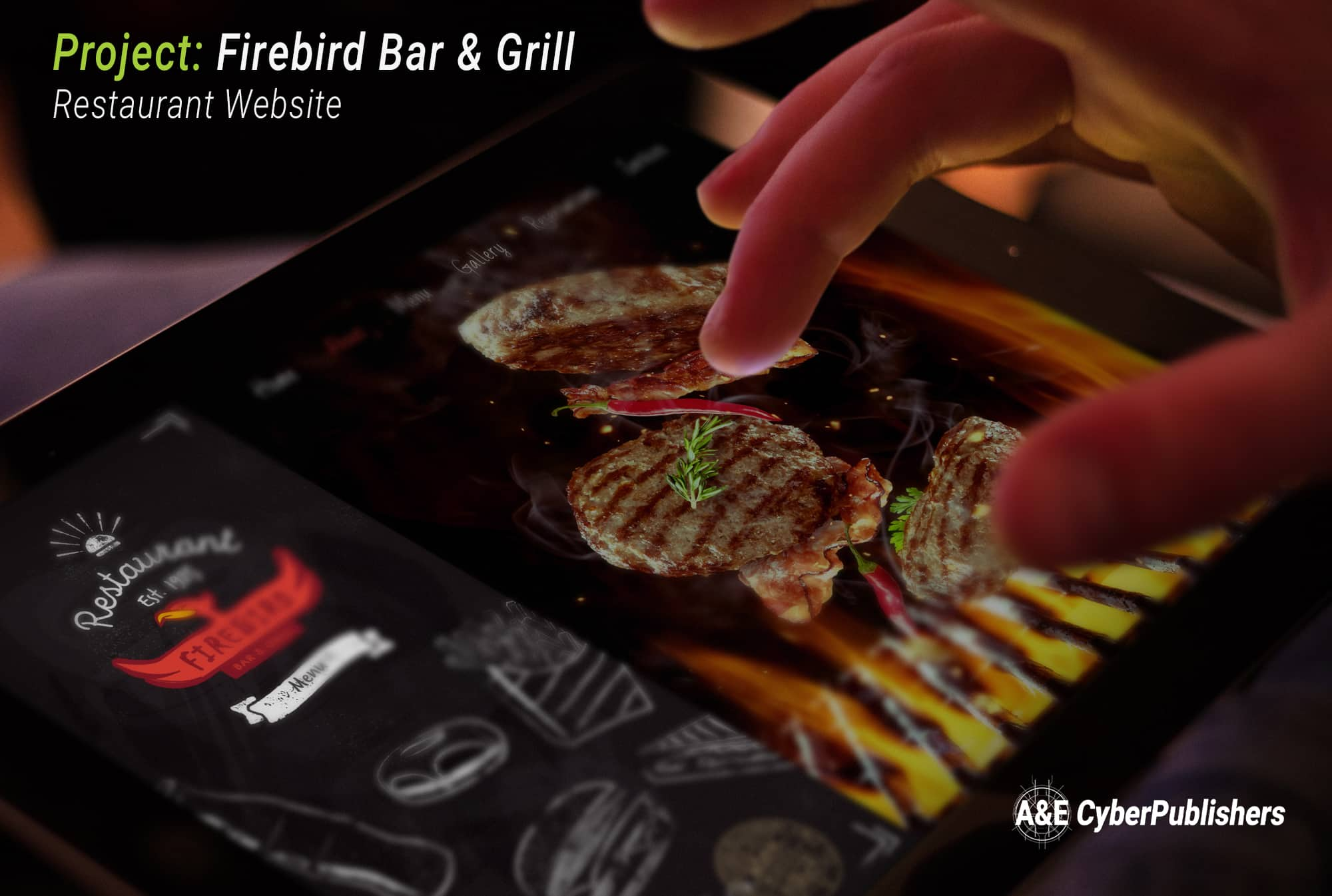 Firebird Bar & Grill Logo and Website